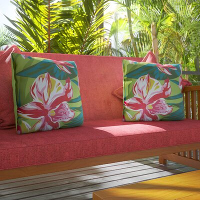 Balamos Indoor/Outdoor Polyester Throw Pillow Size: 16 H x 16 W x 4 D
