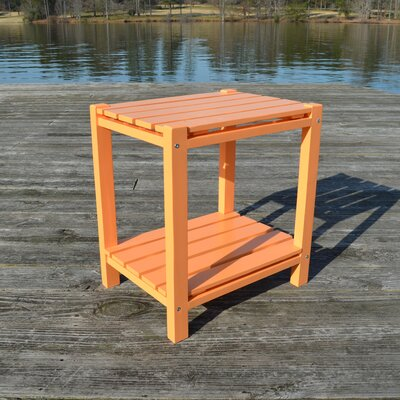 Wedelia Adirondack Side Table Color: Orange