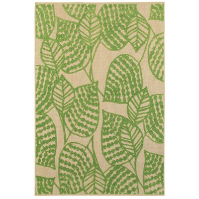 Ledyard Sand/Green Indoor/Outdoor Area Rug Size: 67 x 96