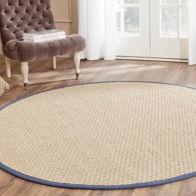 Greene Traditional Hand Woven Brown Area Rug Rug Size: Round 6
