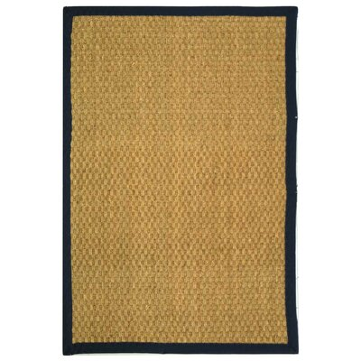Belhaven Natural/Blue Area Rug Rug Size: 4' x 6'