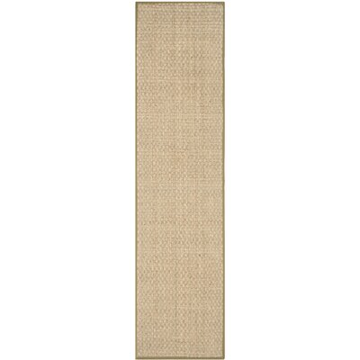 Greene Hand-Woven Olive Area Rug Rug Size: Runner 26 x 14