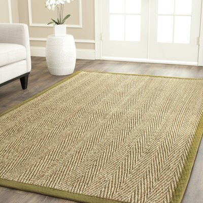 Belhaven Natural/Light Olive Area Rug Rug Size: Runner 26 x 16