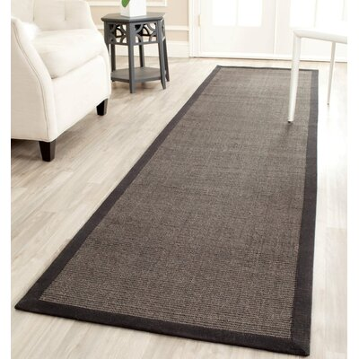 Greene Charcoal/Dark Gray Area Rug Rug Size: Runner 26 x 6