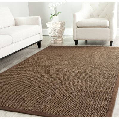 Greene Hand-Woven Brown Area Rug Rug Size: Rectangle 4 x 6