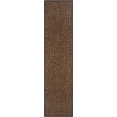 Greene Hand-Woven Brown Area Rug Rug Size: Runner 26 x 22