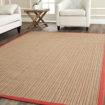 Belhaven Red Border Area Rug