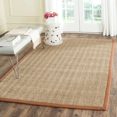 Greene Natural/Brown Rug Rug Size: 2 x 3