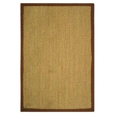 Greene Hand-Woven Natural / Light brown Area Rug Rug Size: Rectangle 2 x 3