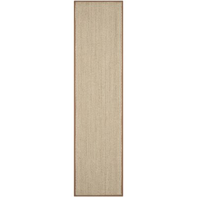 Greene Hand-Woven Natural / Light brown Area Rug Rug Size: Runner 26 x 14