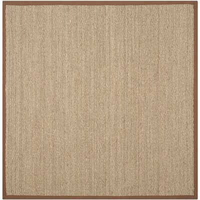 Greene Hand-Woven Brown Area Rug Rug Size: Square 8