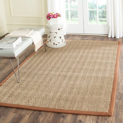 Belhaven Natural/Brown Rug Rug Size: 5 x 8