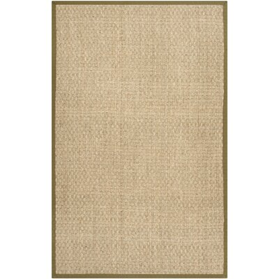 Greene Natural/Olive Rug Rug Size: 5 x 8