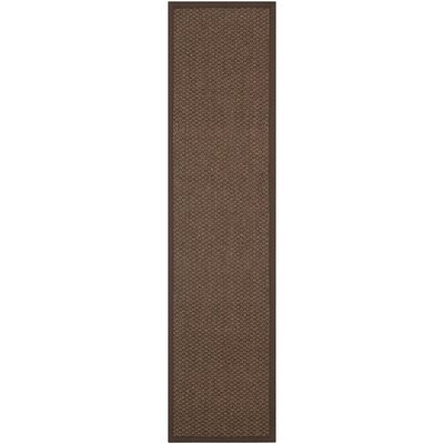 Greene Sisal Chocolate Indoor Area Rug Rug Size: Runner 26 x 10