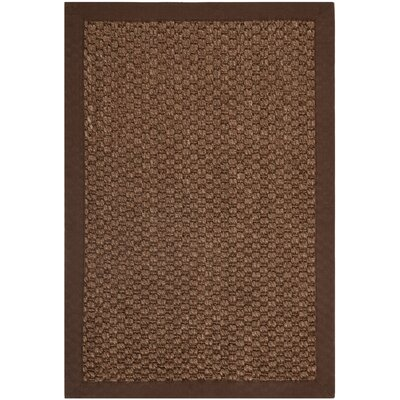 Greene Sisal Chocolate Indoor Area Rug Rug Size: 4 x 6