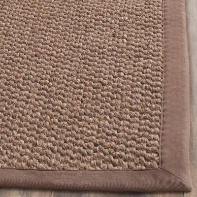 Greene Sisal Chocolate Indoor Area Rug Rug Size: 5 x 8