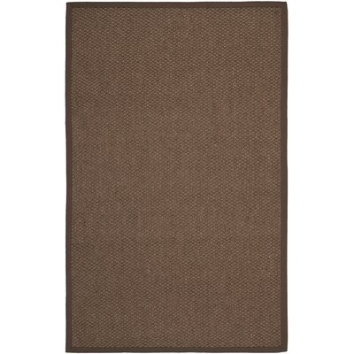 Greene Sisal Chocolate Indoor Area Rug Rug Size: 8 x 11