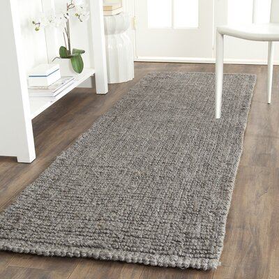 Greene Hand-Woven Gray Indoor Area Rug Rug Size: Runner 26 x 20