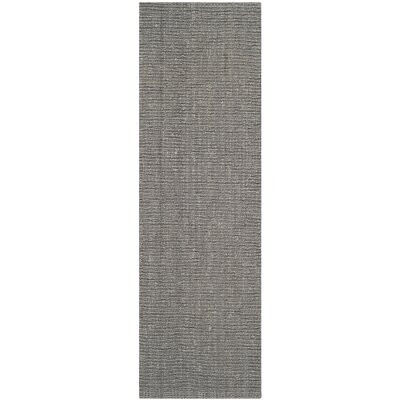 Greene Hand-Woven Gray Indoor Area Rug Rug Size: Runner 26 x 8