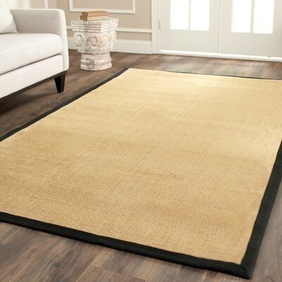 Belhaven Contemporary Maize/Black Area Rug Rug Size: 5 x 8