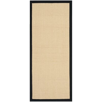 Greene Contemporary Sisal Brown Area Rug Rug Size: Runner 26 x 6