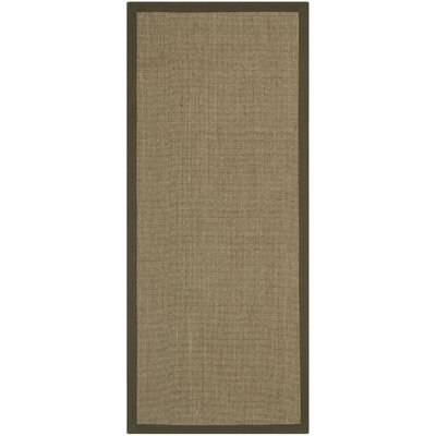 Greene Contemporary Brown Area Rug Rug Size: Runner 26 x 12