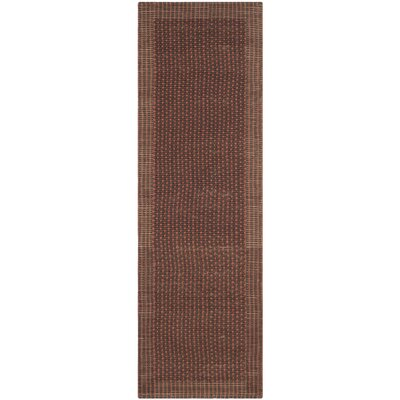 Greene Contemporary Brown/Rust Area Rug Rug Size: Runner 26 x 8