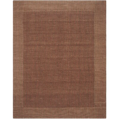 Greene Contemporary Brown/Rust Area Rug Rug Size: 4 x 6