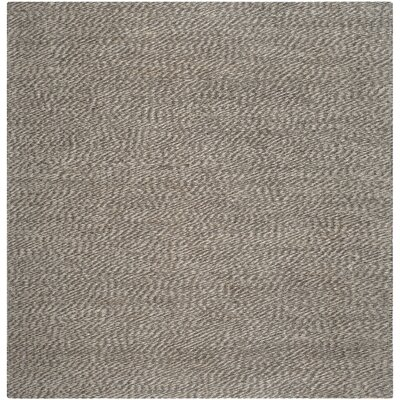 Greene Contemporary Grey Area Rug Rug Size: Square 6 x 6