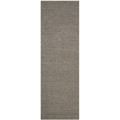 Greene Black / Gray Area Rug Rug Size: Runner 26 x 12