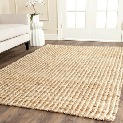 Greene Hand Woven Ivory Area Rug Rug Size: Rectangle 6 x 9