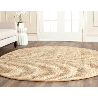 Greene Contemporary Ivory Area Rug Rug Size: Round 7