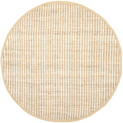 Greene Hand Woven Ivory Area Rug Rug Size: Round 7