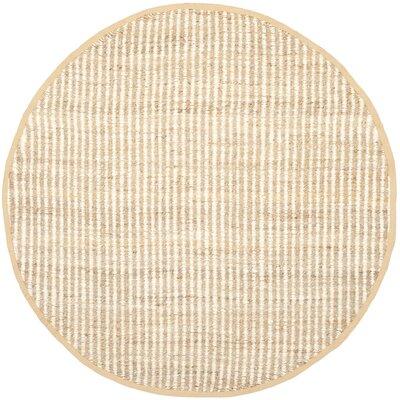 Greene Hand Woven Ivory Area Rug Rug Size: Round 7