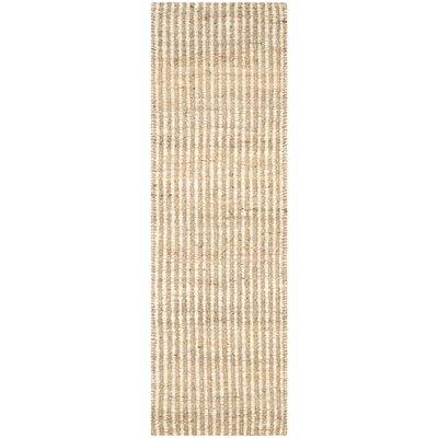 Greene Hand Woven Ivory Area Rug Rug Size: Runner 23 x 11