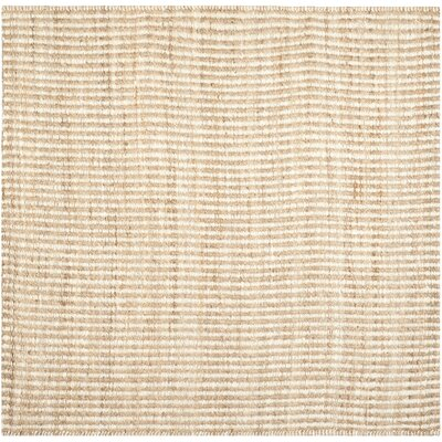 Greene Contemporary Ivory Area Rug Rug Size: Square 7