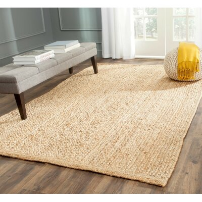 Greene Natural Solid Rug Rug Size: 3 x 5