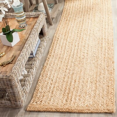 Greene Hand-Woven Natural Area Rug Rug Size: Runner 26 x 6