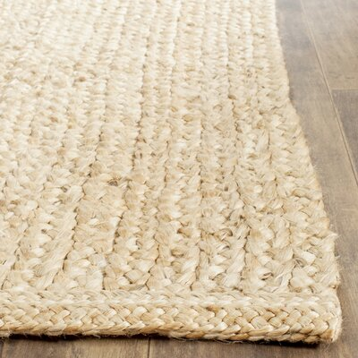 Greene Natural Solid Rug Rug Size: 5 x 8