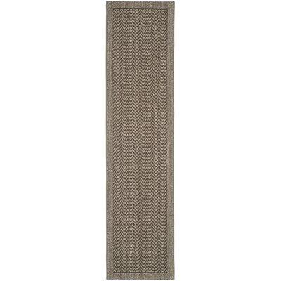 Rodanthe Silver Chevron Area Rug Rug Size: Runner 2 x 8