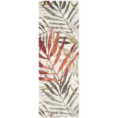 Avon Ivory / Green Floral and Plant Rug Rug Size: Runner 24 x 67