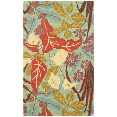 Dixie Floral Blue / Multi Contemporary Rug Rug Size: 3 x 5