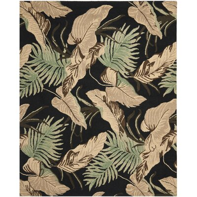 Dixie Black Floral Area Rug Rug Size: Rectangle 8 x 10