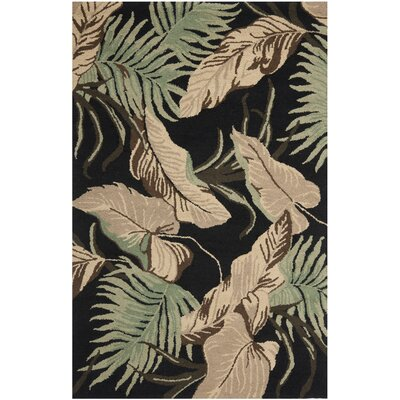 Dixie Black Floral Area Rug Rug Size: Rectangle 5 x 8