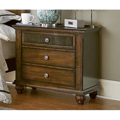 Langham 3 Drawer Nightstand