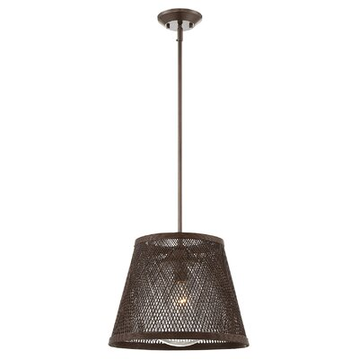 Williamstown 1-Light Mini Pendant Color: Brown/Architectural Bronze, Size: 45.75 H x 20 W
