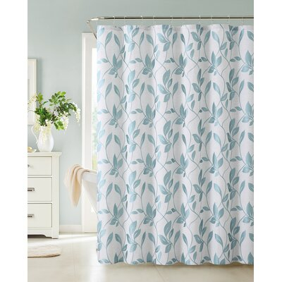 Somers Shower Curtain Color: Blue