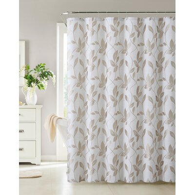 Somers Shower Curtain Color: Taupe