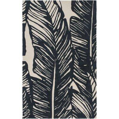 Wayland Charcoal/Beige Indoor/Outdoor Area Rug Rug Size: 4 x 6