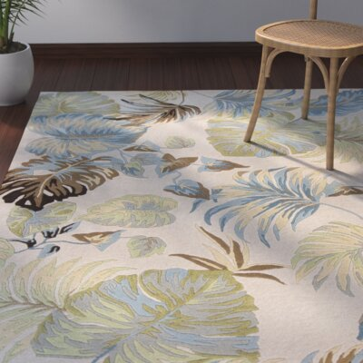 Imala Hand-Tufted Ivory/Blue Area Rug Rug Size: Rectangle 33 x 53